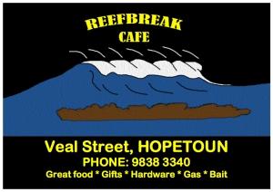 reefbreak cafe sign